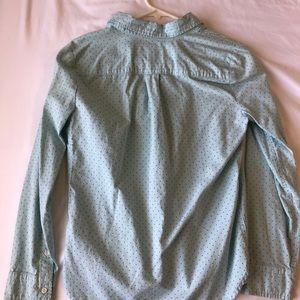 J. Crew blue printed button-down shirt